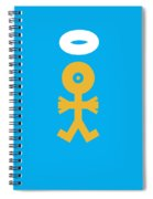 Xmas Baby Angel Icon Spiral Notebook