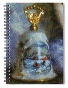 Xmas Bell 02 Photo Art Spiral Notebook