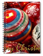 Xmas Card 1 Spiral Notebook