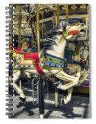 Xmas Carousel Spiral Notebook