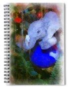 Xmas Elephant Ornament Photo Art 02 Spiral Notebook