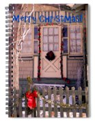Xmas House 1 Spiral Notebook