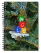 Xmas Noel Ornament Photo Art 01 Spiral Notebook