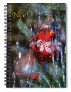 Xmas Ornament Noel Photo Art 01 Spiral Notebook
