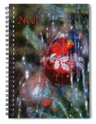 Xmas Ornament Noel Photo Art 02 Spiral Notebook