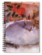 Xmas Skating Rink Photo Art Spiral Notebook