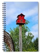 Yachats Red Birdhouse Spiral Notebook