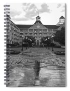 Yacht And Beach Club In Black And White Walt Disney World Spiral Notebook
