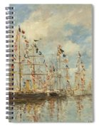 Yacht Basin At Trouville Deauville Spiral Notebook