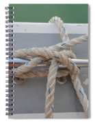 Yacht Secured To A Jetty  Spiral Notebook