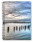 Yacht Storming Morning Spiral Notebook