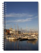 Yachts In A Marina At Sunset Spiral Notebook