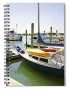 Yachts In A Port 1 Spiral Notebook
