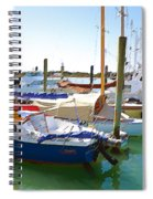 Yachts In A Port 4 Spiral Notebook