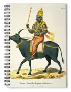 Yama, God Of The Invisible World Spiral Notebook