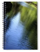 Yamhill River Abstract 24849 Spiral Notebook
