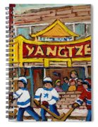 Yangtze Restaurant With Van Horne Bagel And Hockey Spiral Notebook