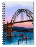 Yaquina Bay Bridge Spiral Notebook