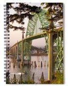 Yaquina Bay Bridge Morning Light Spiral Notebook