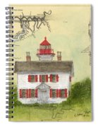 Yaquina Bay Lighthouse Or Nautical Chart Map Art Spiral Notebook