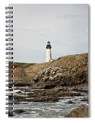 Yaquina Head Lighthouse From The Beach Spiral Notebook