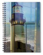 Yaquina Head Lighthouse Mirage  Spiral Notebook