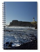Yaquina Lighthouse And Beach No 1 Spiral Notebook
