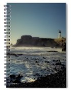 Yaquina Lighthouse And Beach No 2 Spiral Notebook