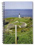 Yaquina Lighthouse From Salal Hill Trail  Spiral Notebook