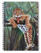Yawning Leopard Spiral Notebook