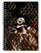 Yawning Panda  Spiral Notebook