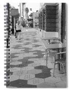Ybor City Sidewalk - Black And White Spiral Notebook