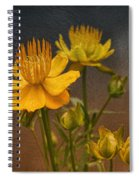 Yellow Aged Floral Spiral Notebook