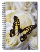 Yellow And Black Butterfly Spiral Notebook