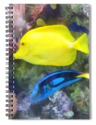 Yellow And Blue Tang Fish Spiral Notebook