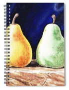 Yellow And Green Pear Spiral Notebook