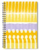 Yellow And Grey Tie Dye Spiral Notebook