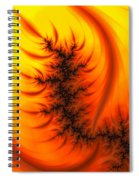 Yellow And Orange Fractal Fire Spiral Notebook
