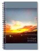 Yellow And Orange Sunset Spiral Notebook