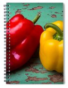 Yellow And Red Bell Pepper Spiral Notebook