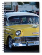Yellow And White Classic Chevy Spiral Notebook