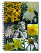 Yellow And White Flower Collage Spiral Notebook