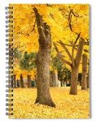 Yellow Autumn Wonderland Spiral Notebook