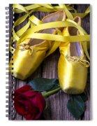 Yellow Ballet Shoes Spiral Notebook