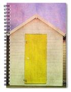 Yellow Beach Hut Spiral Notebook