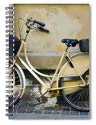 Yellow Bicycle In Copenhagen Spiral Notebook
