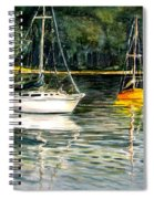 Yellow Boat Sister Bay Spiral Notebook