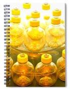 Yellow Bottle Spiral Notebook
