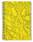 Yellow Branches Spiral Notebook