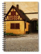 Yellow Building And Wall In Rothenburg Germany Spiral Notebook